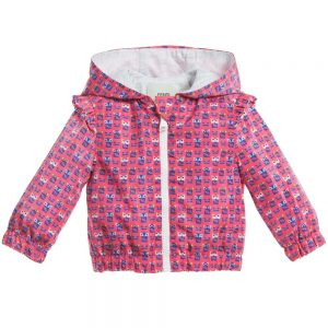 Fendi Baby Girls Pink 'FF Monster' Lightweight Jacket