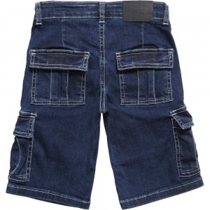 Ferrari Boys Blue Denim Cargo Shorts