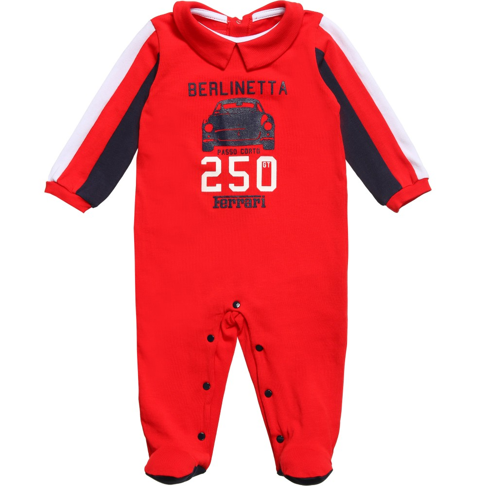Ferrari Boys Red Cotton Car Babygrow