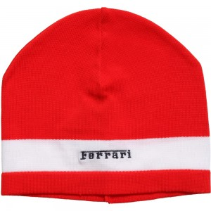 Ferrari Boys Red Knitted Logo Hat