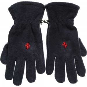 Ferrari Navy Blue Fleece Boys Ski Gloves