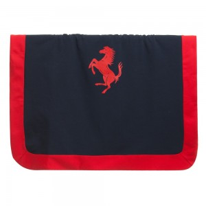Ferrari Navy Blue & Red Padded Baby Blanket (72cm)