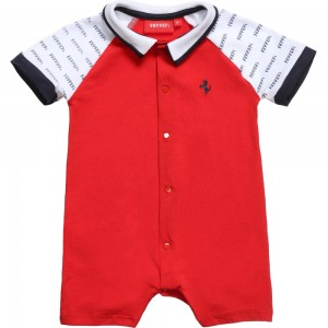 Ferrari Red Baby Shortie with Ferrari Logo Sleeves