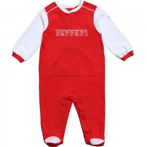 Ferrari Red & White Babygrow with Logo1