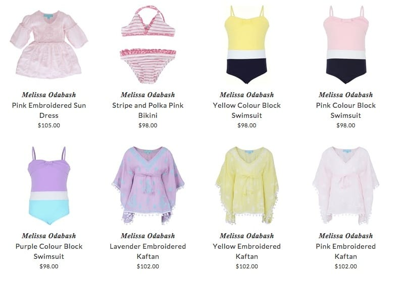 Melissa Odabash children swimwear & beach clothing