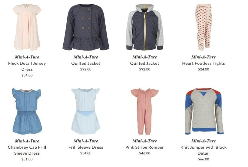 Mini A Ture children & baby clothing