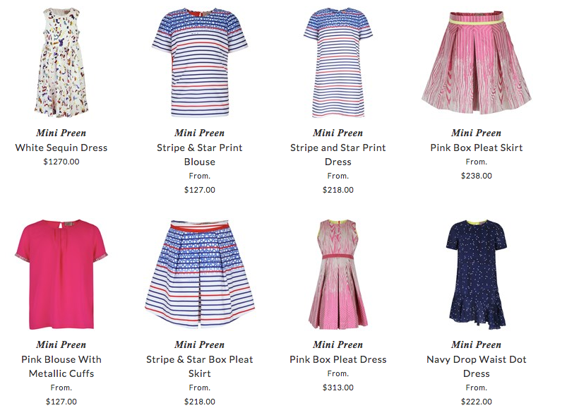 Mini Preen children apparel