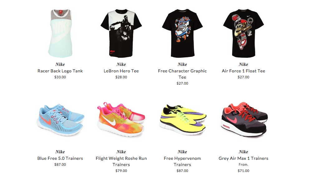 Nike children clothing & shoes