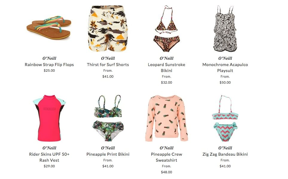 O'Neil children clothing & accessories