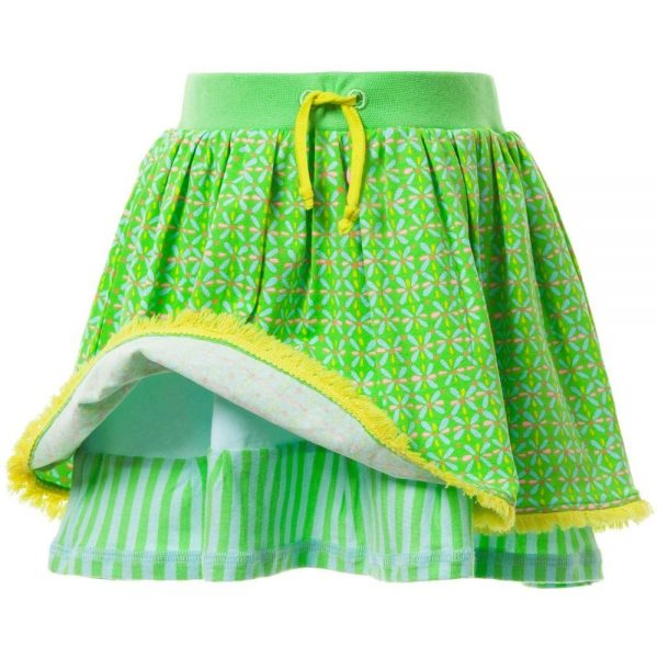 OILILY Green Patterned 'Tuca' Skirt 2