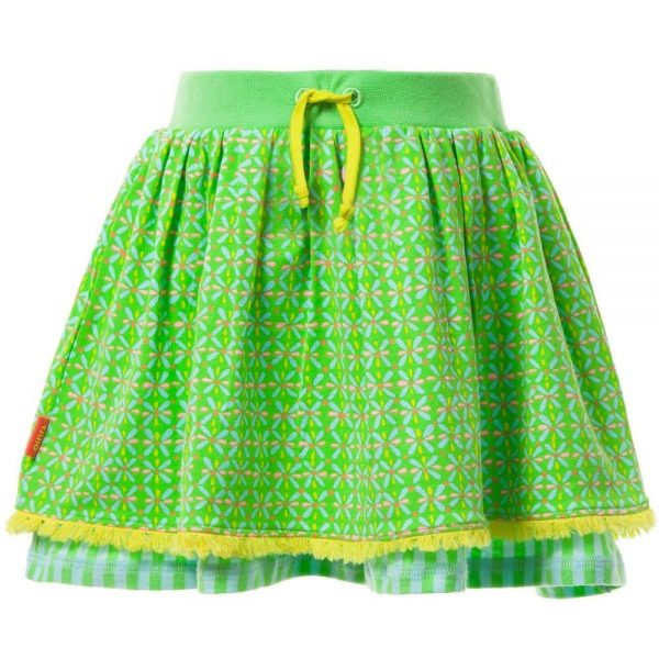 OILILY Green Patterned 'Tuca' Skirt