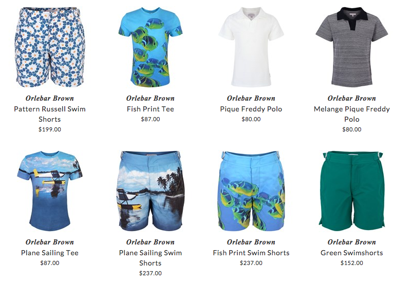 Orlebar Brown children beach clothing