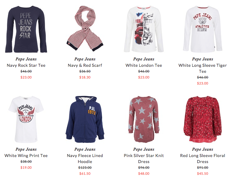 Pepe Jeans children clothing