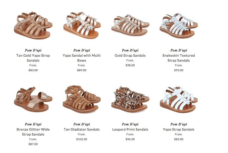Pom D'Api children shoes