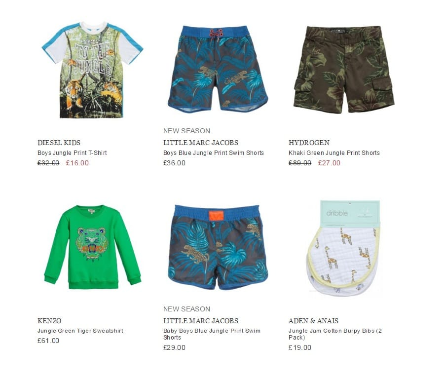 BOYS WILD JUNGLE OUTFIT