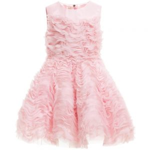 Quis Quis Pink Silk & Tulle Dress with Petticoat Skirt