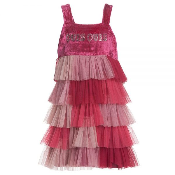 Quis Quis Pink Tulle Layered Dress