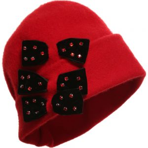 Quis Quis Red Wool Hat