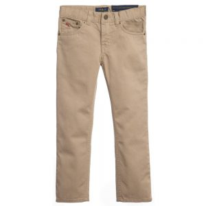Ralph Lauren Boys Beige 'Skinny Fit' Cotton Jeans