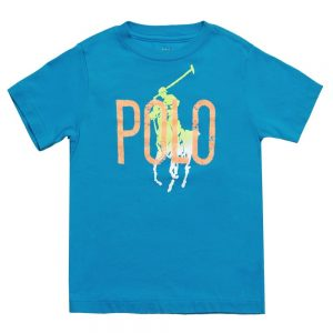Ralph Lauren Boys Blue Cotton Jersey 'Polo' T-Shirt