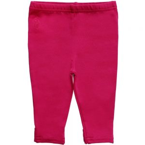 Ralph Lauren Girls Pink Cotton Leggings with Bow Back