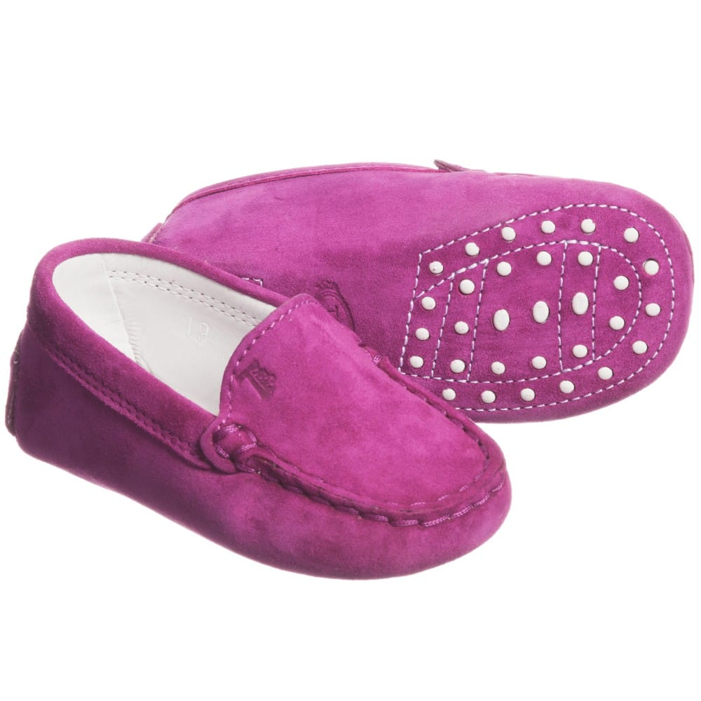 Purple Leather Moccasins