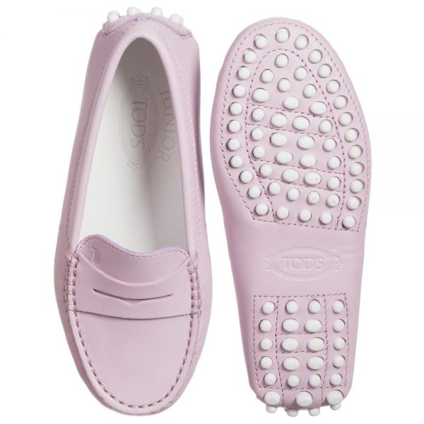 Dusky Pink Leather 'Gommino' Moccasins2