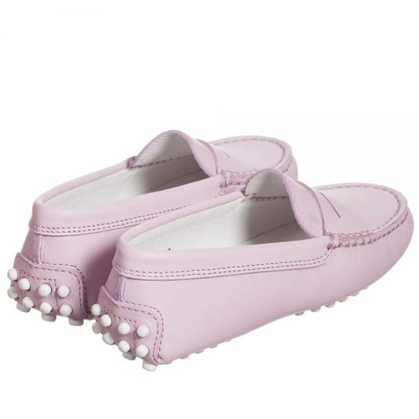 Dusky Pink Leather 'Gommino' Moccasins3
