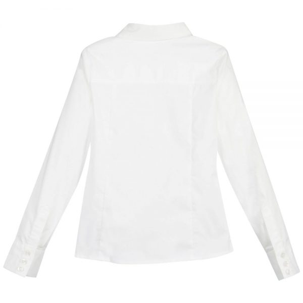 Girls White 'Birkita' Blouse with Black Bows3