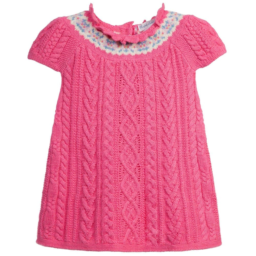 Ralph Lauren Baby Girls Pink Knitted Dress