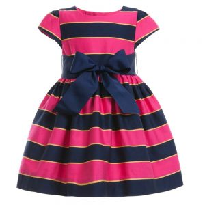 Ralph Lauren Baby Girls Pink Stripe Dress & Knickers