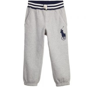 Ralph Lauren Boys Grey Marl Big Pony Tracksuit Trousers