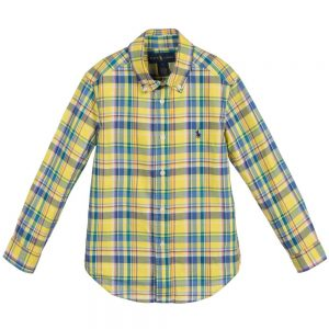 Ralph Lauren Boys Yellow Check Cotton Shirt