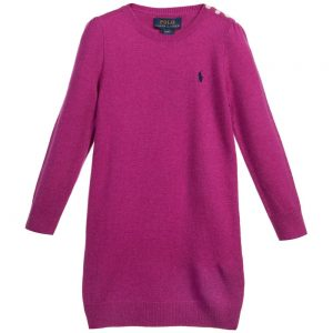 Ralph Lauren Fuschia Wool Knitted Dress