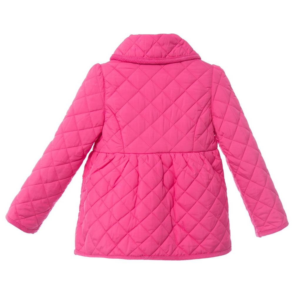Ralph Lauren Girls Bright Pink Quilted Jacket