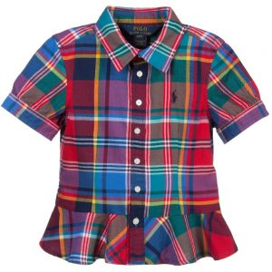 Ralph Lauren Girls Multicoloured Checked Cotton Blouse