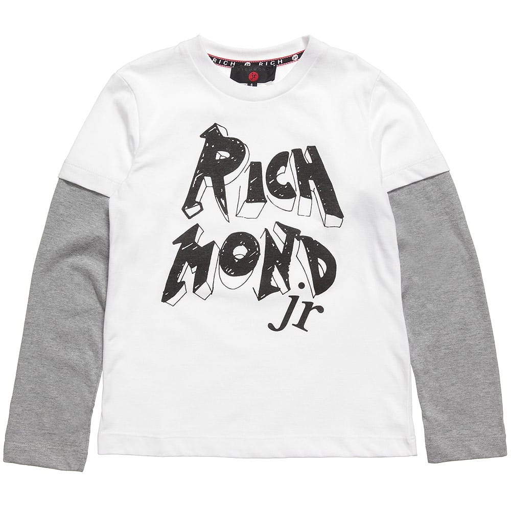 Richmond JR Boys Layered-Look Jersey Top