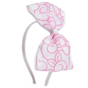 Simonetta Girls Pink Bow Hairband