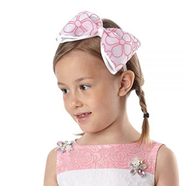 Simonetta Girls Pink Bow Hairband1