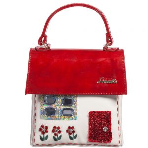 Simonetta Girls Red Patent Leather House Bag (14cm)