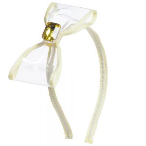 Simonetta Girls Yellow Large Bow Hairband