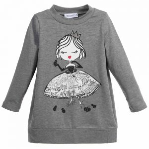 Simonetta Grey Jersey Princess Sweater Dress