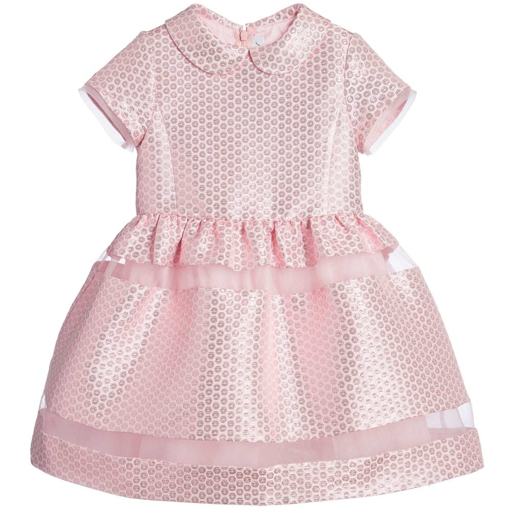 Simonetta Metallic Pink Circle Dress