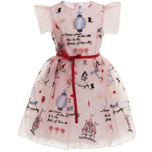 Simonetta Pink Embroidered 'Once Upon a Time' Dress