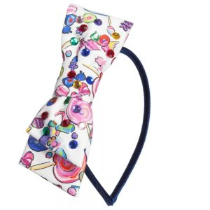 Simonetta Sweetie Print Hair Band with Bow
