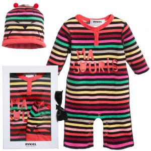 Sonia Rykiel Enfant Baby Girls Signature Stripe Babygrow & Hat Set