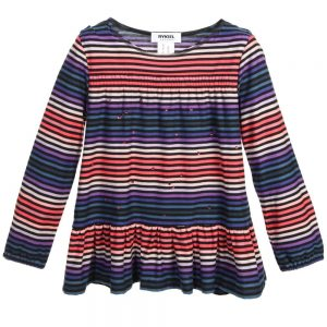 Sonia Rykiel Paris Girls Signature Stripe Jersey Tunic Top