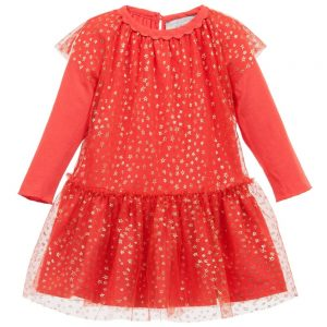 Stella McCartney Kids Baby Girls Red Tulle 'Mouse' Dress Set