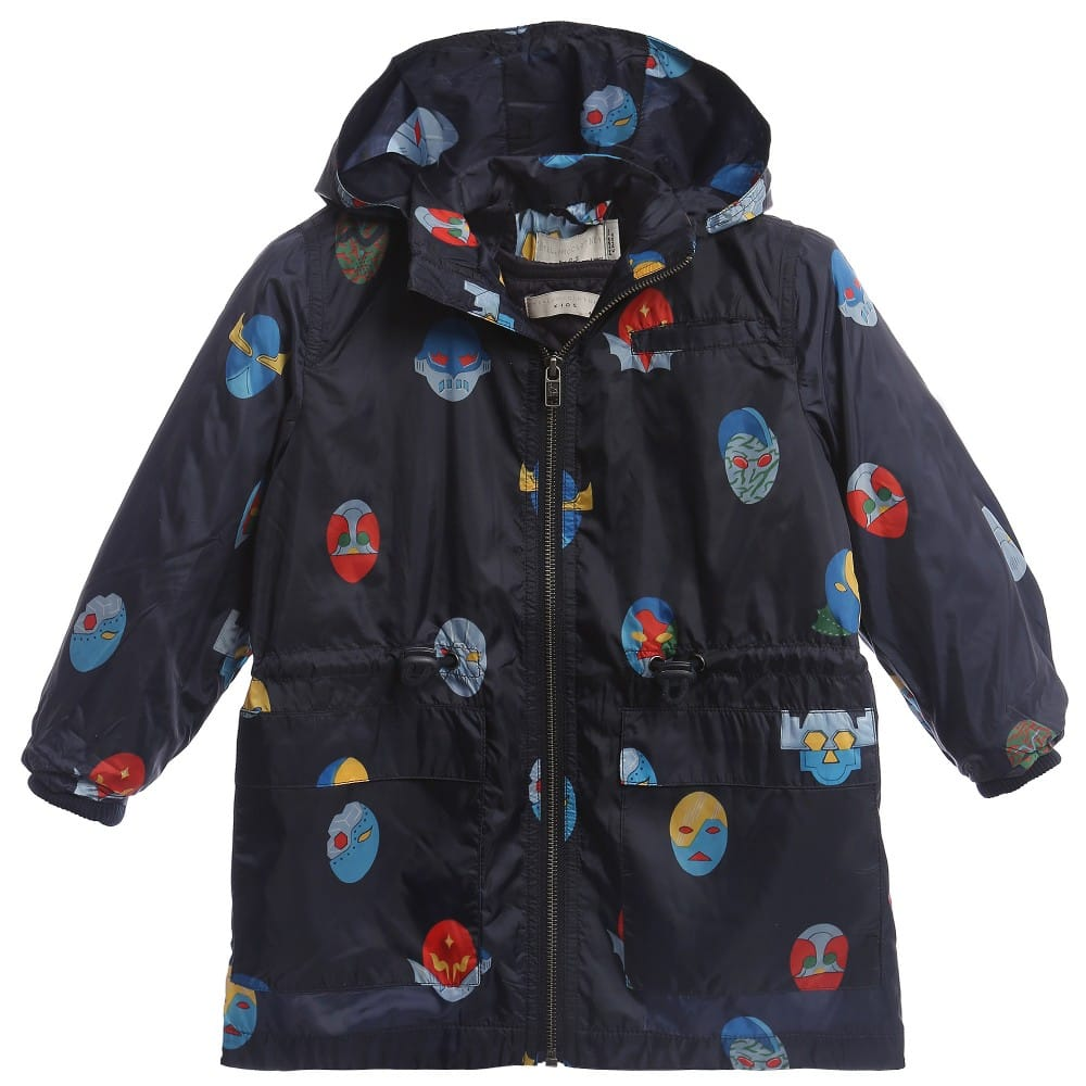 Stella McCartney Kids Blue SuperStellaHeros 'Beck' Raincoat & Jacket Set