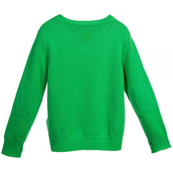 Stella McCartney Kids Boys Green Wool & Cashmere 'Woody' Jumper1